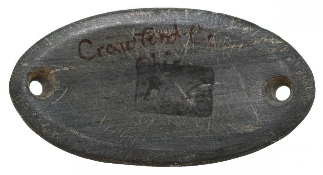 """3"""" Slate Boatstone.  Crawford Co, OH.  Well made, - 2"""