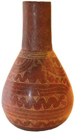 """9 3/4""""H. Caddo Haley Engraved Bottle.  Pictured in"""