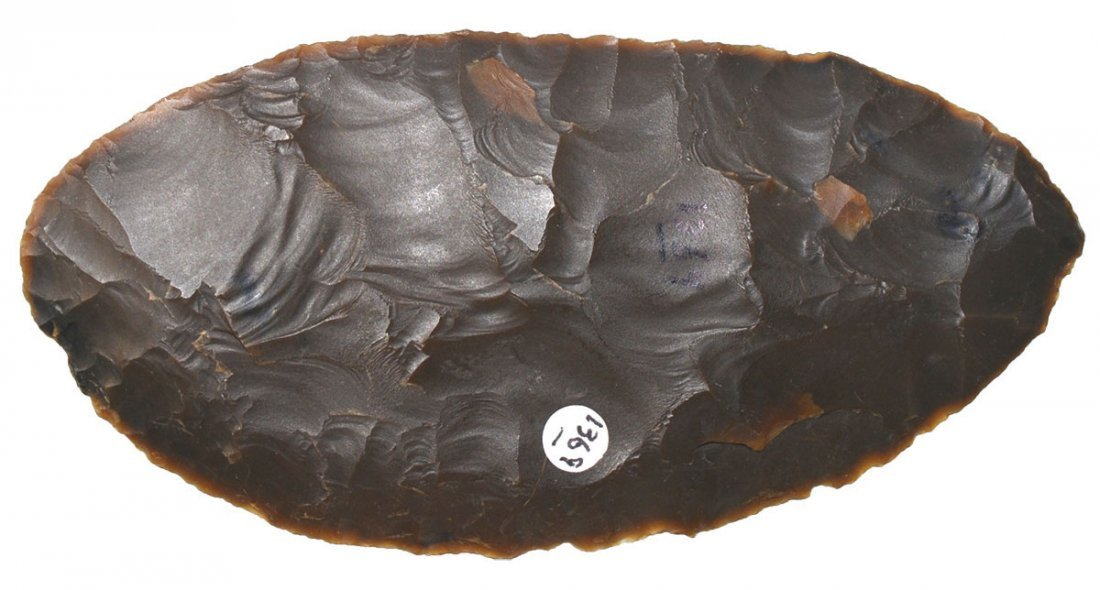 """4 3/16"""" Archaic Knife.  Fremont Co, WY.  Rogers COA."""