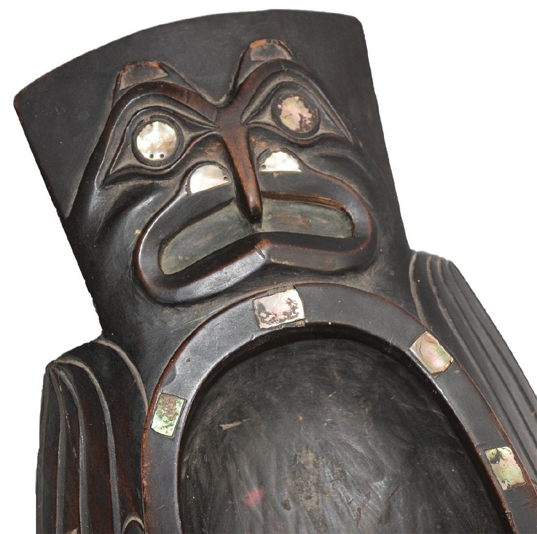 "19 1/2"" Haida-Tlingit Grease Bowl.  Older example - 6"