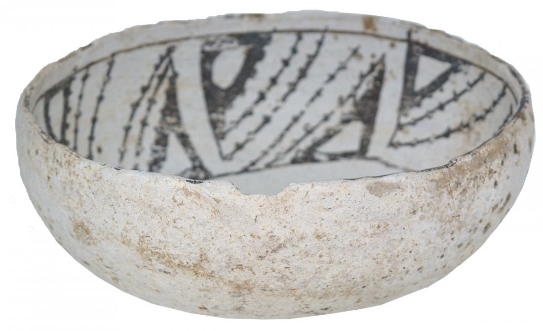 """6 1/8"""" Mimbres Bowl with animal figure in bottom.  NM. - 4"""