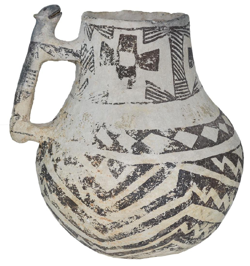 "8"" H. Tularosa  Anasazi Pitcher with animal handle. - 2"