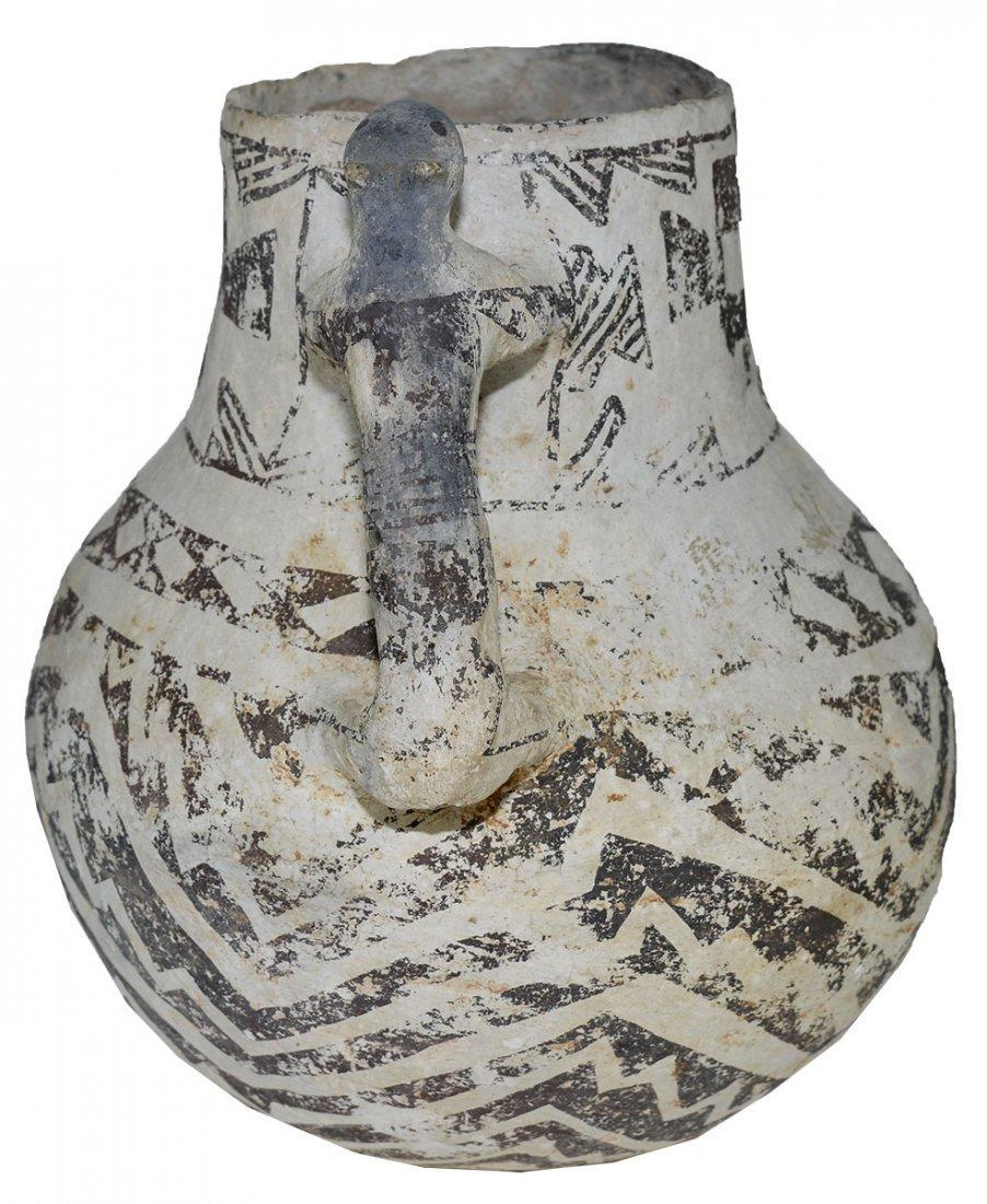 "8"" H. Tularosa  Anasazi Pitcher with animal handle. - 3"