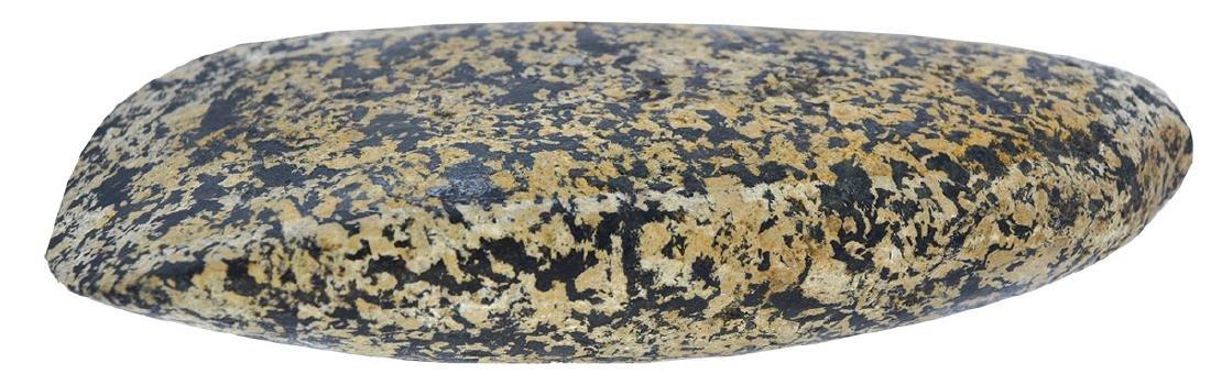 """5 5/16"""" Flat Bottom Adz.  Iowa.  Striking  Granite. - 2"""
