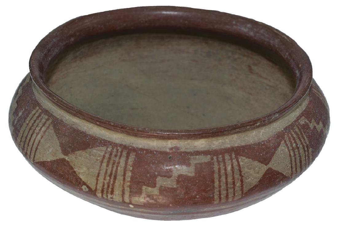 "9 3/8"" D.  Pre-Columbian Bowl with geometric designs. - 2"