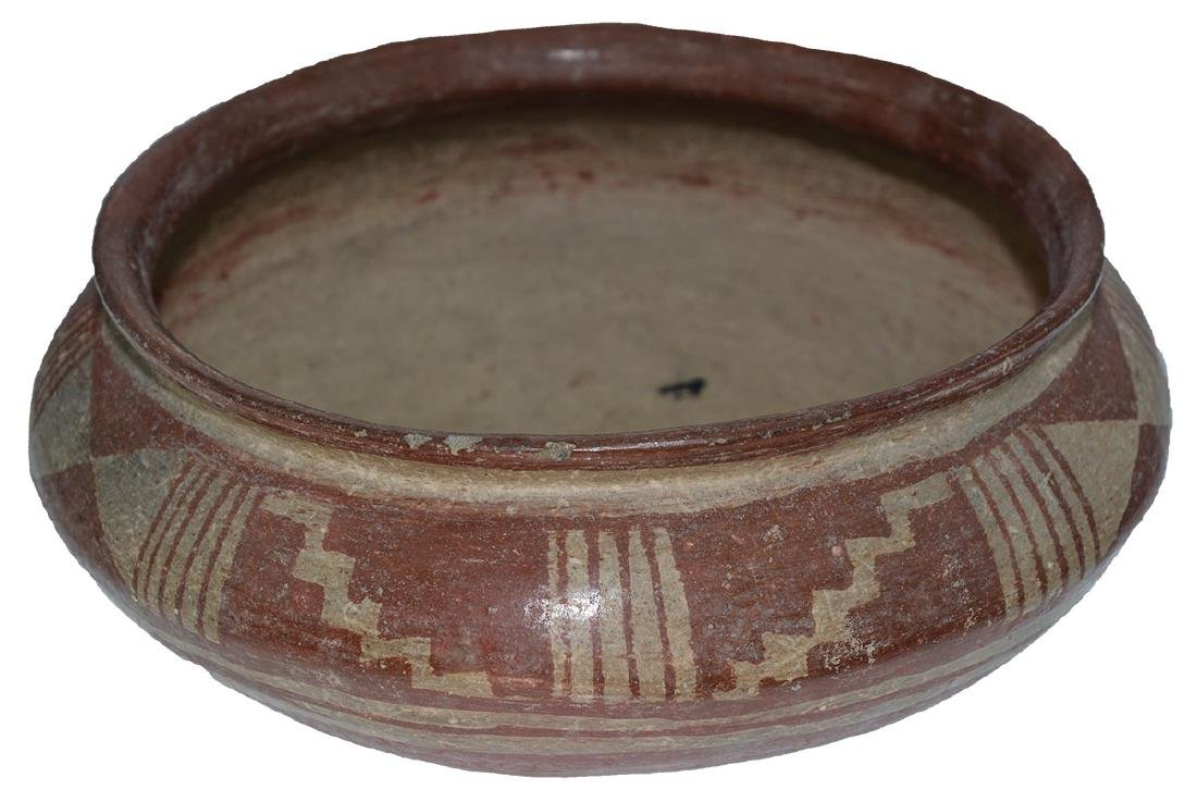 "9 3/8"" D.  Pre-Columbian Bowl with geometric designs. - 3"