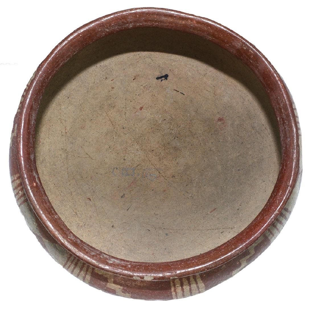 "9 3/8"" D.  Pre-Columbian Bowl with geometric designs. - 4"