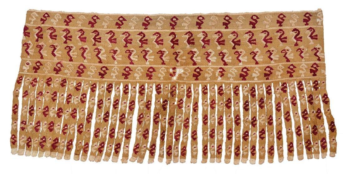 Chancay Textile Panel.  Peru.  100-1400 AD.