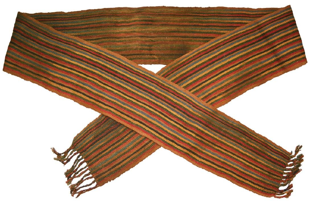 """Nazca Ceremonial Sash.  6' 6"""" long and 5 1/2"""" wide."""