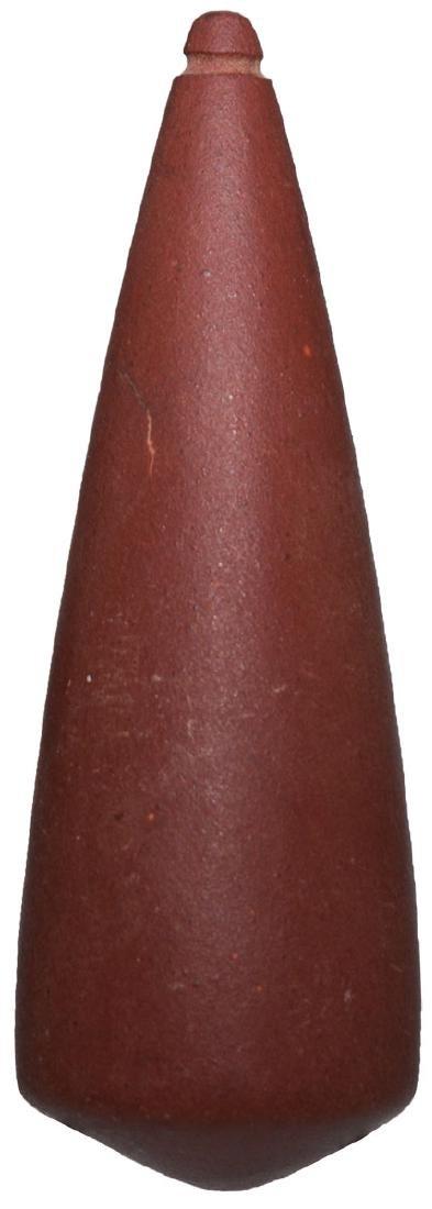 """3 1/8"""" Red Catlinite Plummet.   South Dakota"""
