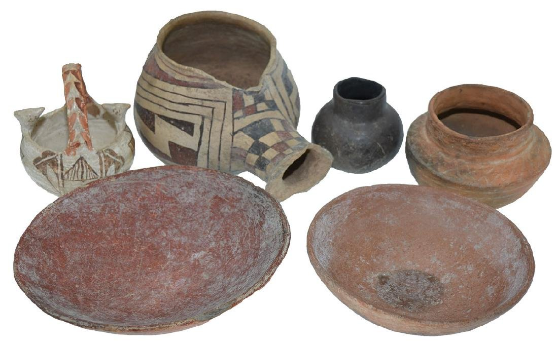 6  Southwestern Pottery Pieces
