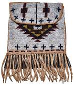 6 34 with fringe Beaded Leather Strike A Lite Bag