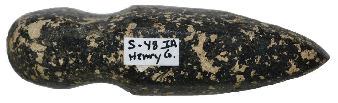 """3"""" 3/4 Groove Axe.  Henry Co, IA.  Black and cream - 4"""