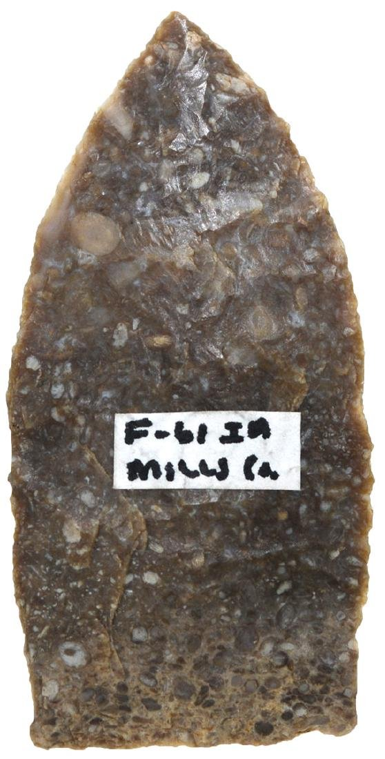 """2"""" Browns Valley.  Mills Co, IA.  Fine Paleo point - 2"""