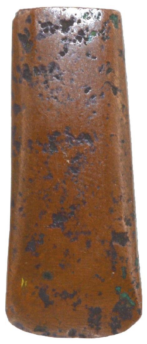 "1 9/16"" Miniature Hopewell Copper Celt.  Jersey, IL."