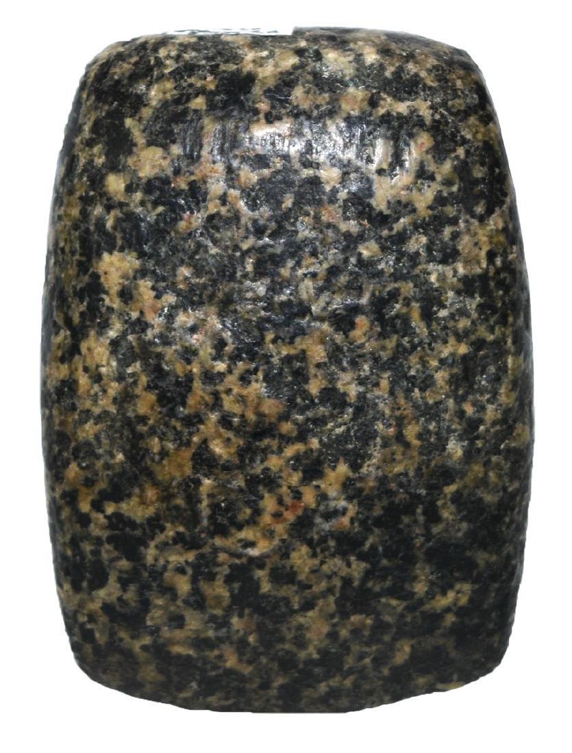 "2 3/4"" Polished Granite Celt.  Mills  Co, IA.  Ex-Fred"