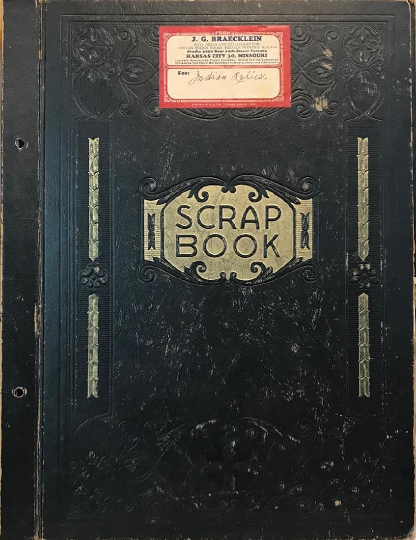 Special Book:  J.G. Braecklein's personal scrapbook