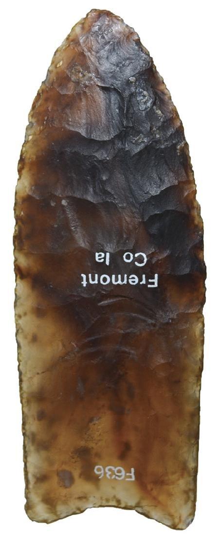 Translucent Knife River Flint Clovis.  One of the best.