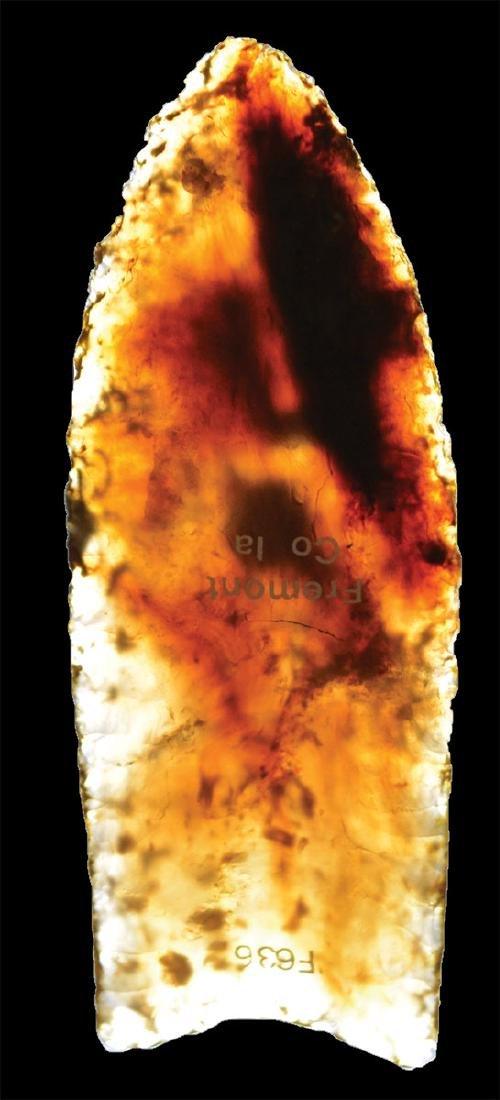 Translucent Knife River Flint Clovis.  One of the best. - 3