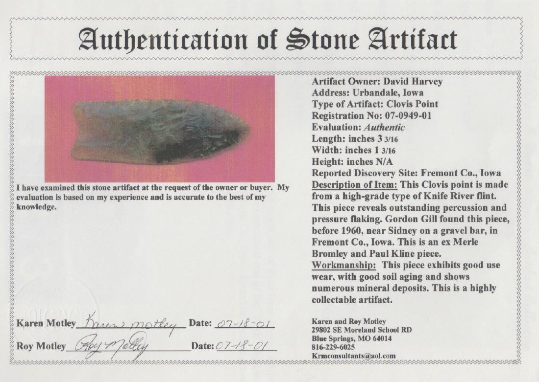 Translucent Knife River Flint Clovis.  One of the best. - 6