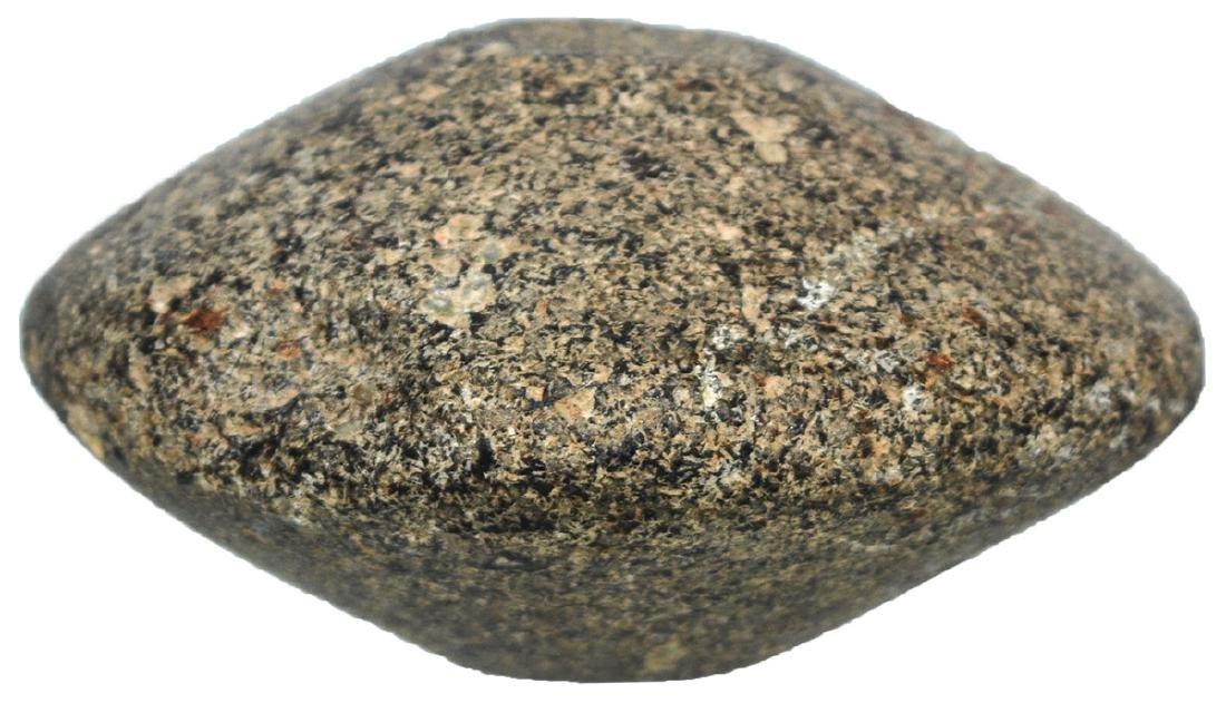 "3"" Salt River Discoidal.  Illinois.  Black hardstone."