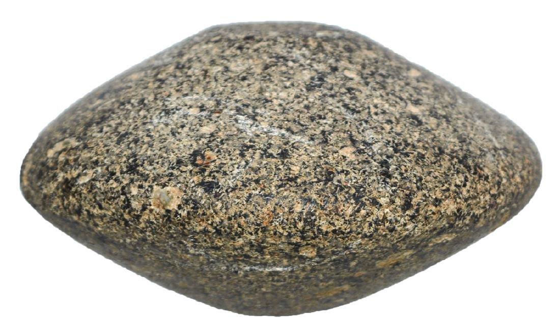 "3"" Salt River Discoidal.  Illinois.  Black hardstone. - 2"