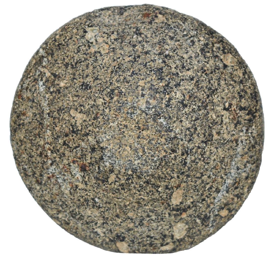 "3"" Salt River Discoidal.  Illinois.  Black hardstone. - 3"