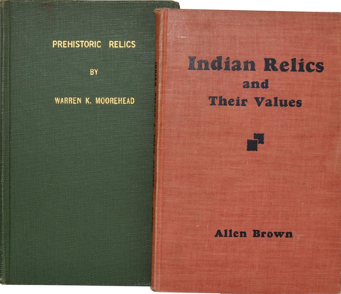 2 Books:  Prehistoric Relics and Indian Relics and