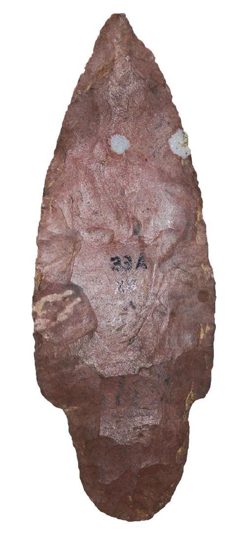 "3 5/8"" Beaver Tail Adena.  TN.  Reddish Jasper."
