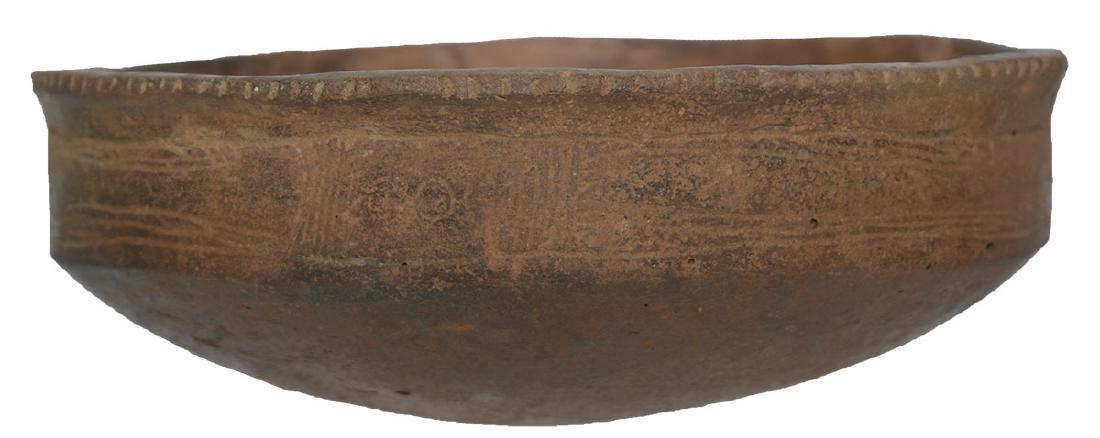 """5 1/4"""" D. Caddo Engraved Bowl. Ex-Dr. Jim Cherry.   AR."""