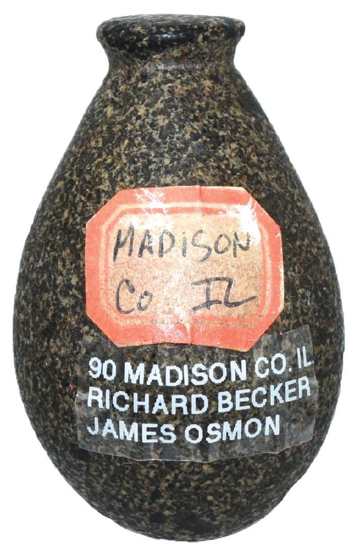 """2"""" Elm Plummet. Madison Co, IL.  Hardstone.  Very good"""
