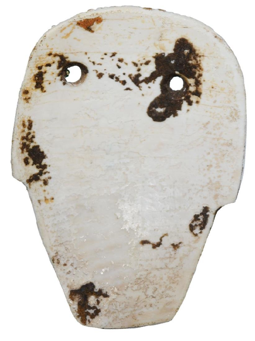 """3"""" Miniature Shell Mask.  Southern OH.  Excellent - 2"""