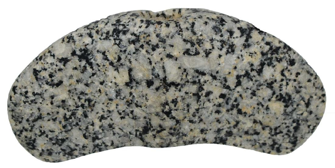 """3 7/8"""" Hardstone Crescent Bannerstone.  Pictured in - 3"""
