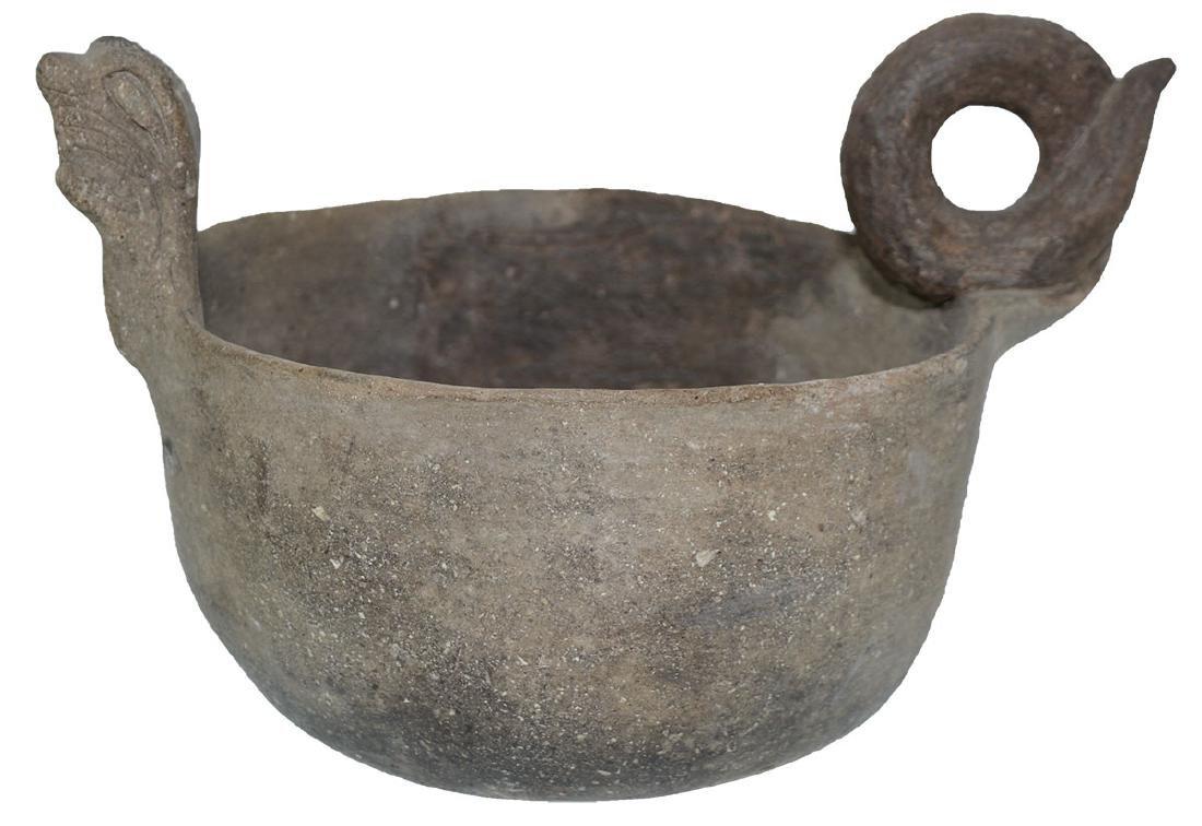 "10"" Cat Serpent Effigy Bowl.  Good condition."