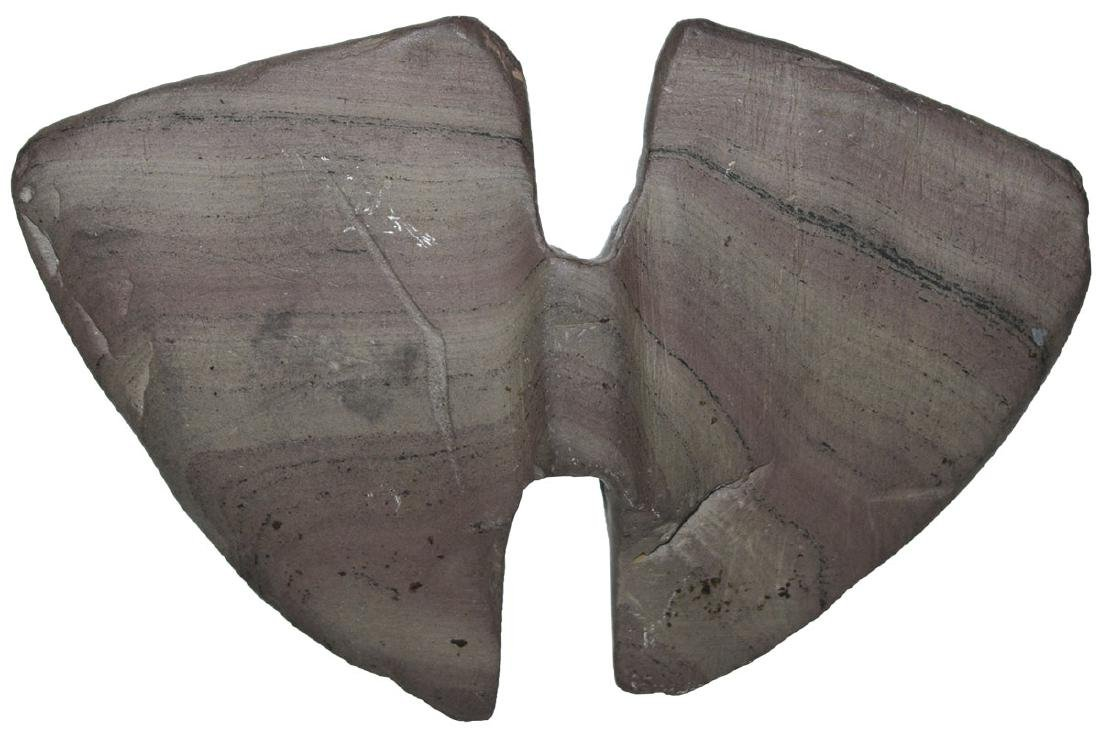 """4 3/8"""" Double Notched Wing Bannerstone.  Vivid, purple"""