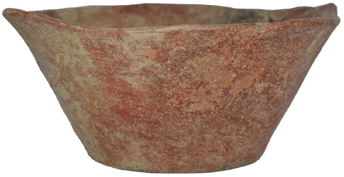 """Graceful 7 3/4"""" Red Bowl with flared sides.  Grant Co,"""