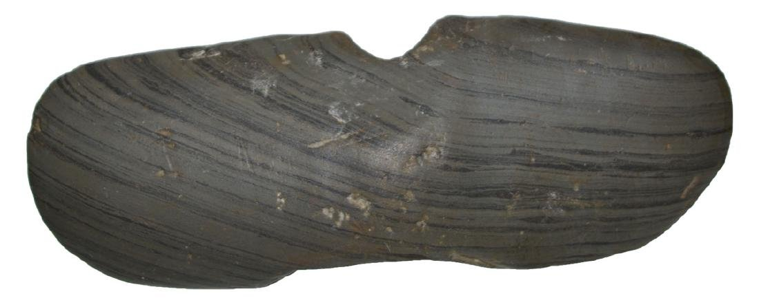 """4 5/8"""" Winged Bannerstone.  Vermillion Co, IN.  Banded"""