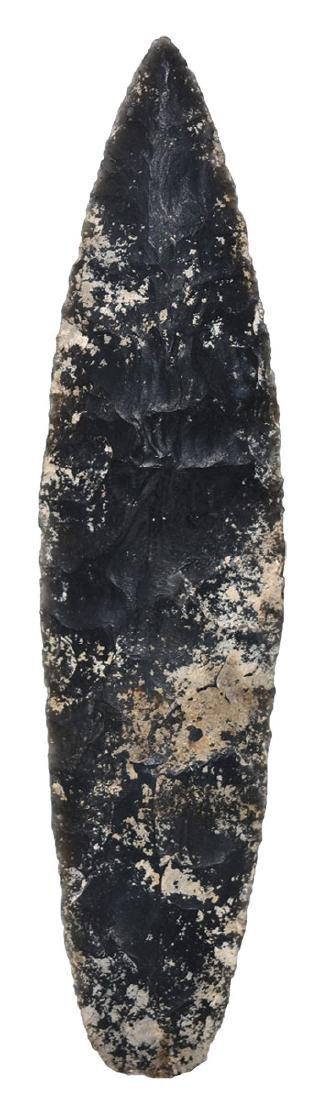 "6 3/16"" Aztec Blade.  Central America..   Obsidian."