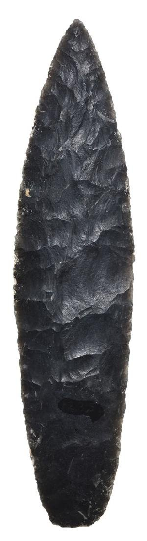 "6 3/16"" Aztec Blade.  Central America..   Obsidian. - 2"