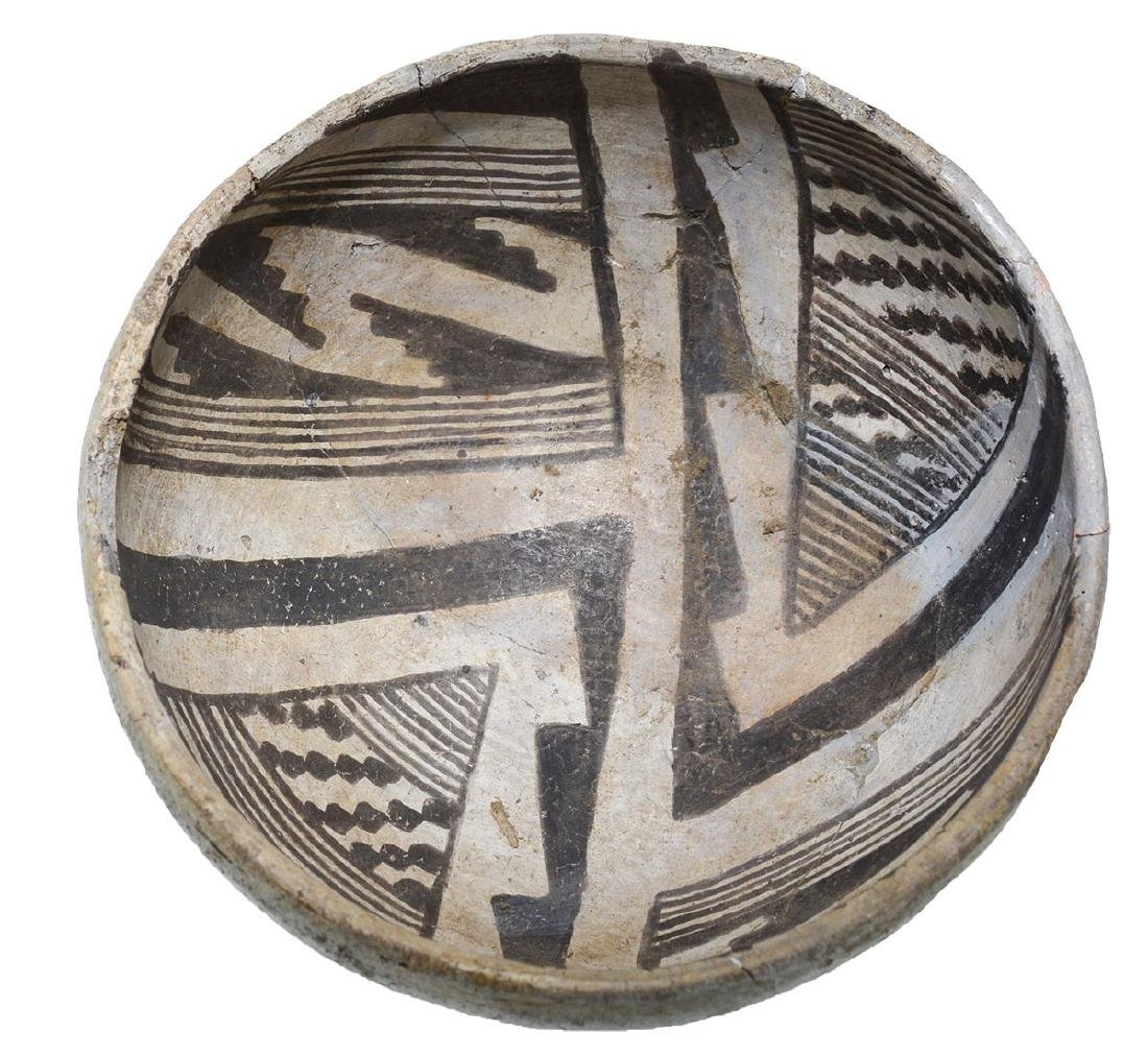 "5 5/8"" Anasazi Bowl.  NM.  Glued from large pieces, one - 2"