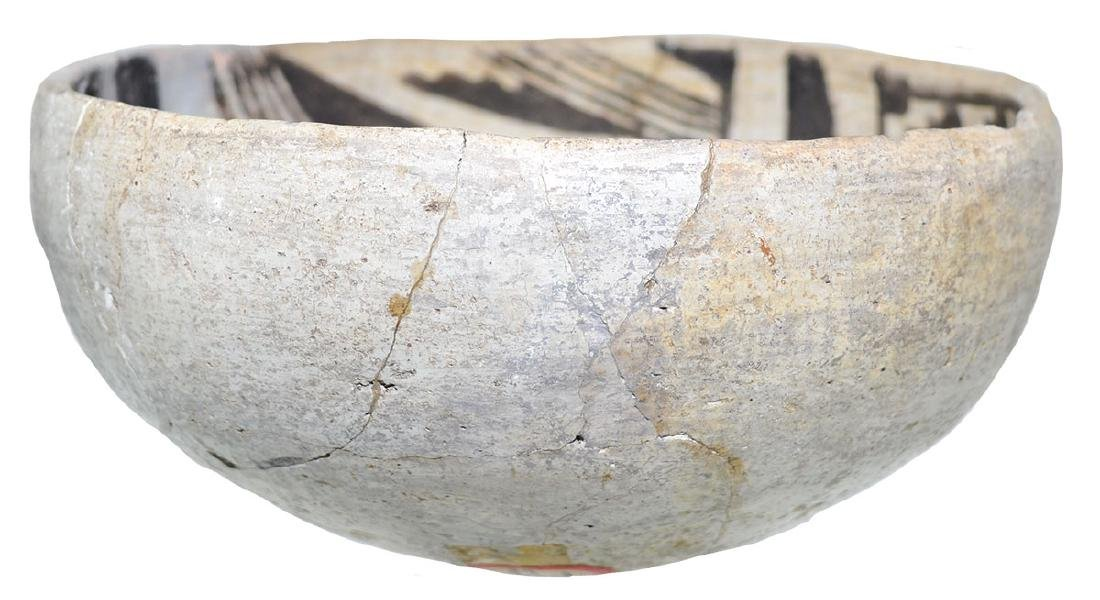 "5 5/8"" Anasazi Bowl.  NM.  Glued from large pieces, one - 3"