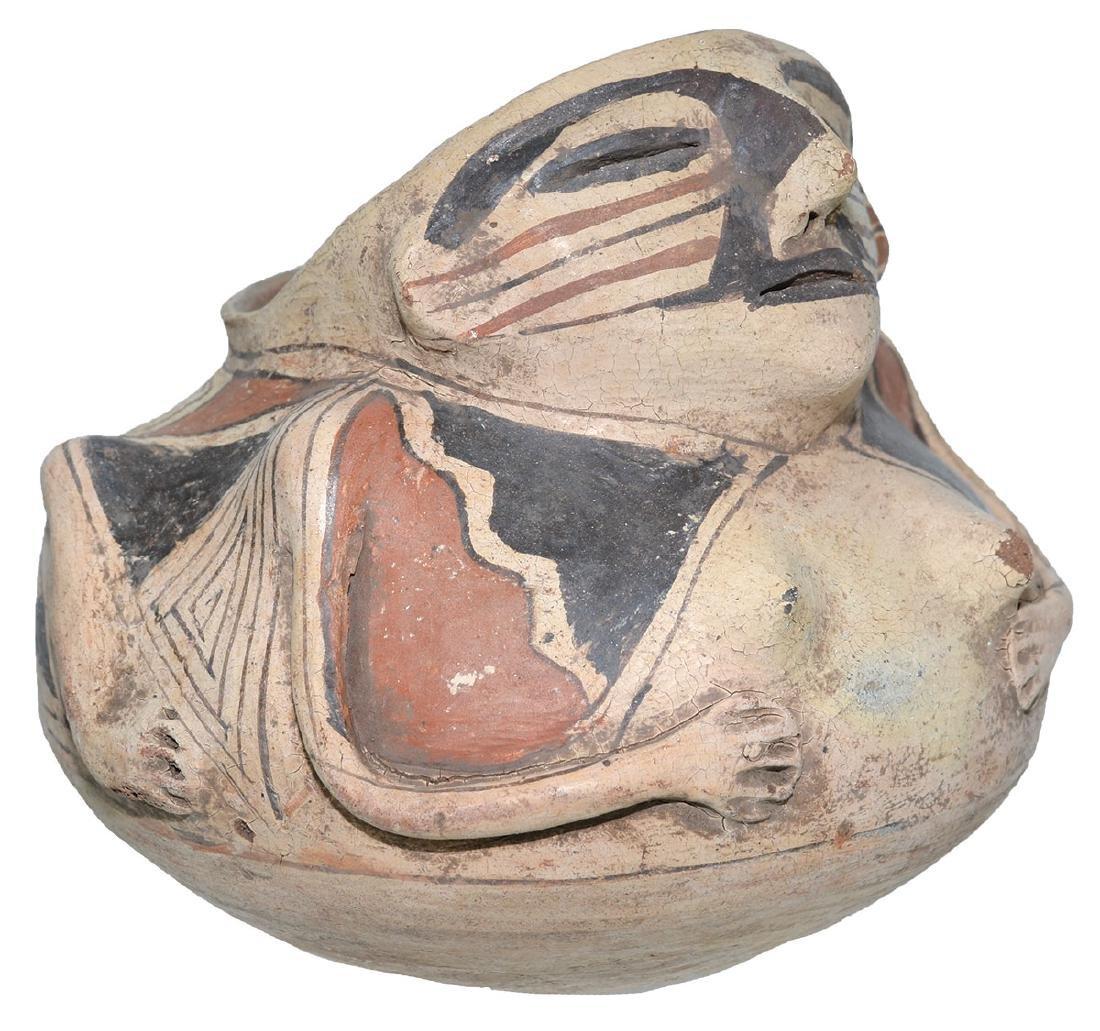 "6 1/4"" H.  Casas Grandes Human Effigy Jar.  Older - 5"