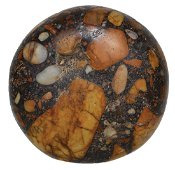 """3 3/16"""" Conglomerate Biscuit Discoidal.  Alabama.  Very"""