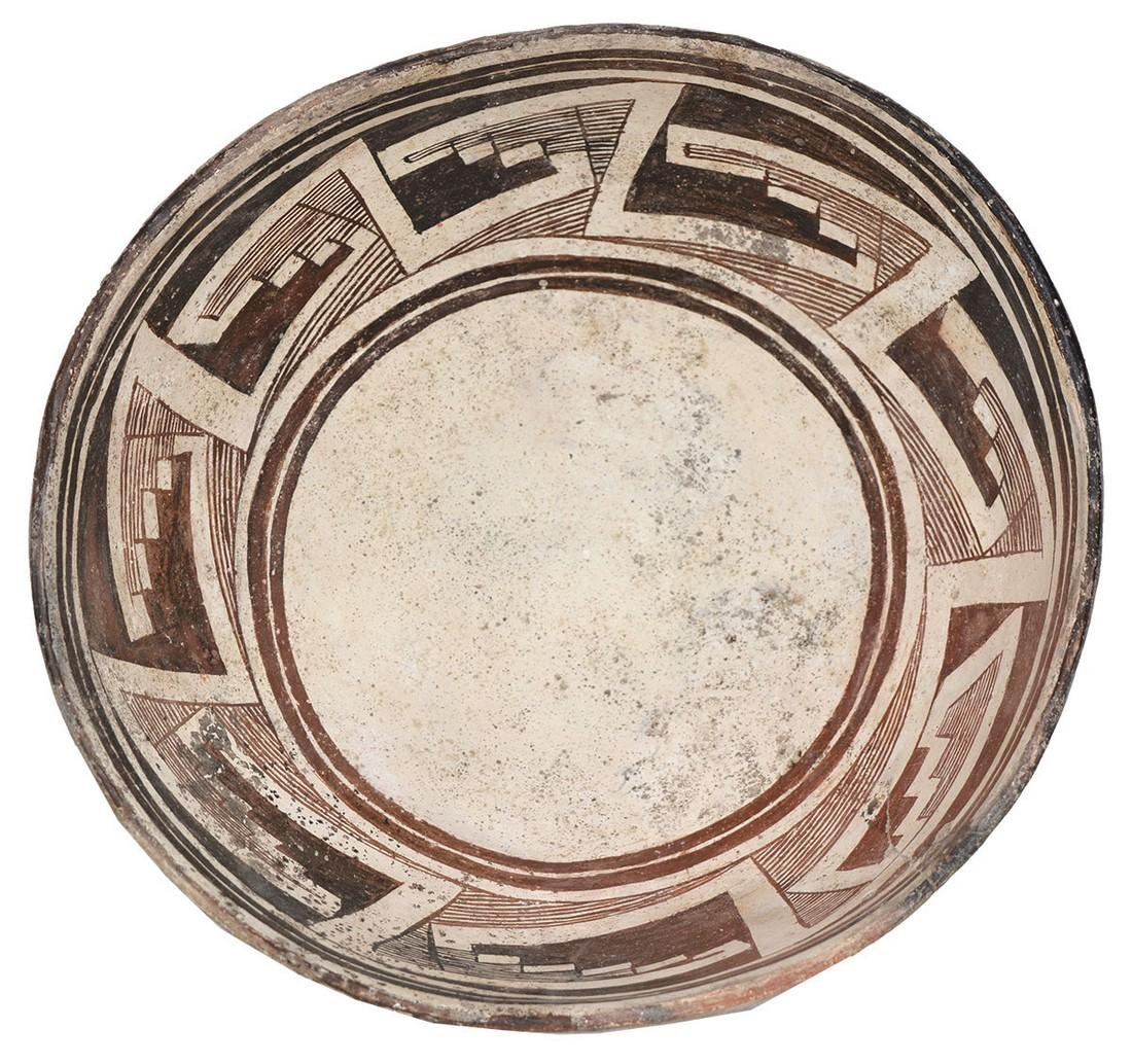 """9 3/8"""" D.  Anasazi Black and White Bowl.  NM.   From"""