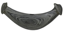 """5 3/4"""" Knobbed Crescent Bannerstone.   Pictured in"""