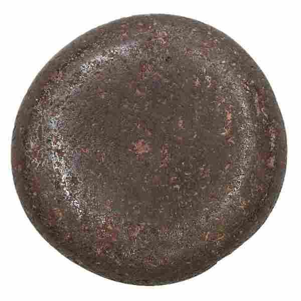 "2 3/8"" Hematite Discoidal. Pike Co, IL. Pictured in"