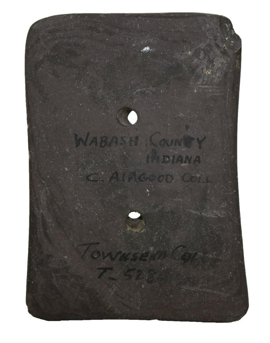 "4"" Bi-Concave Slate Gorget. Wabash Co, IN.  Ex-Earl"