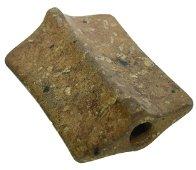 """3 3/8""""  Porphyry Horned Saddleback Bannerstone.  Pict."""