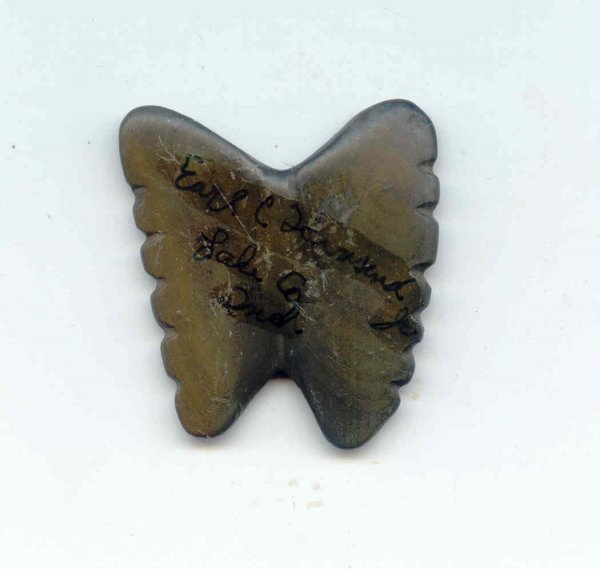 """249: 249.  1 1/2"""" Tallied Butterfly Pendant.  Who's Who"""