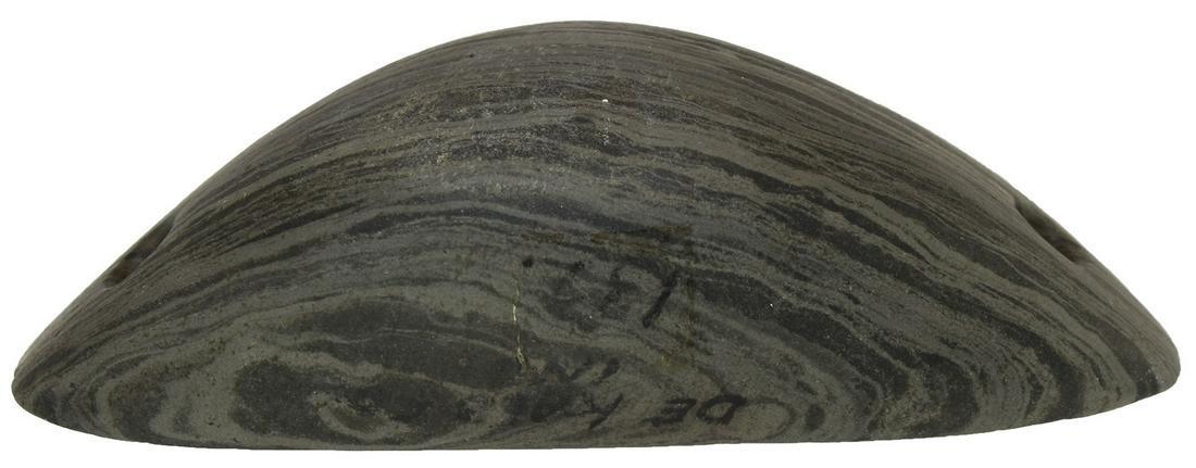 """3 7/8"""" Slate Boatstone.  Dekalb Co, IN.  One of Modoc"""